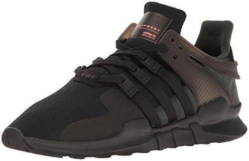 adidas Originals Men's Shoes | EQT Support ADV Fashion Sneakers, Black/Black/Turbo, (13 M US)