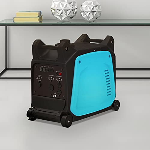 Inverter Generator,Super Quiet Inverter Generator, 3500W Peak 120V Gas-Powered Portable, Blue/Black