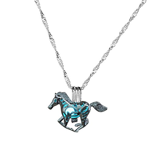 SANWOOD Women's Cute Horse Pendant Chain Necklace Xmas Gift Charming...