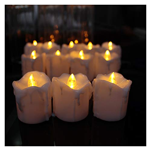 Candle Lights Pack of 4 or 8 Timer Flameless Flickering Led Candle Light, Plastic Fake Decorative Christmas Candles, Black Wick 6 Hours (Color : 8 Pieces Timer)