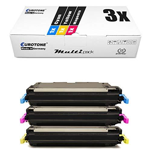 3X Eurotone kompatibler Toner für HP Color Laserjet 5500 5550 wie C9731A-33A C9731A-C9733A 645A Color