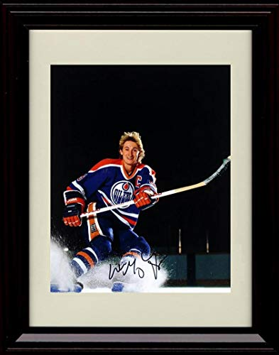 Edmonton Oilers NHL Framed 8x10 Photograph Team Logo and Hockey Puck