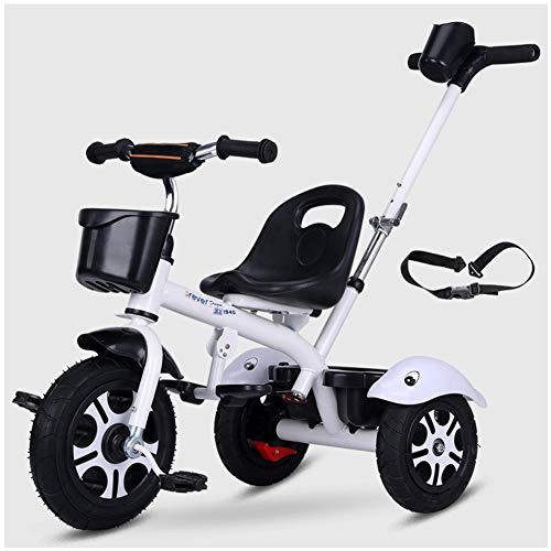 Kinder Baby Dreirad Kinderdreirad Trike Fahrrad Mit Abnehmbarer Schubstange, Mittelfaltbare Fußstütze,...
