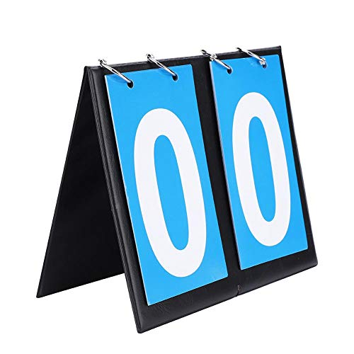 BYARSS 2/3/4 Digit Portable Flip Sports Anzeigetafel Score Counter Flipper für Tischtennis Basketball Tischtennis, Badminton, Basketball, Fußballtraining(2-Digit)