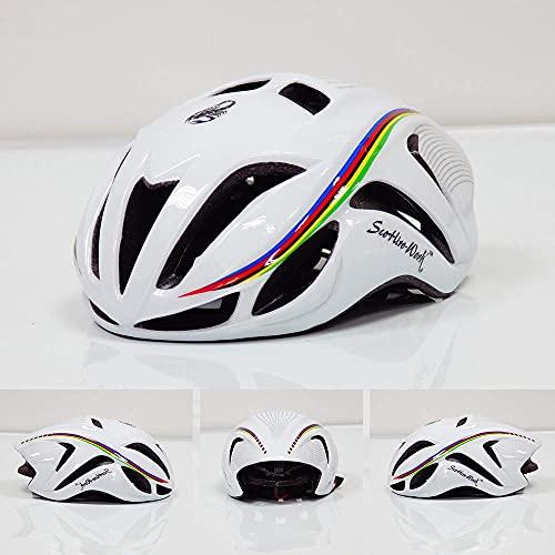 QTQZ Unisex Casco para Ciclistas Protegido, Peso Ligero Ciclismo Ajustable Carreras de montaña Carreras de Carretera Unisex Bicicleta/Patín/Casco Multideporte