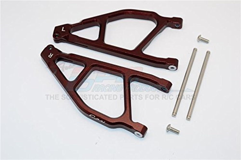 Arrma black 6S BLX (AR106009, AR106011) & Fazon 6S BLX (AR106020) Upgrade Parts Aluminum Front Upper Arms - 1Pr Brown