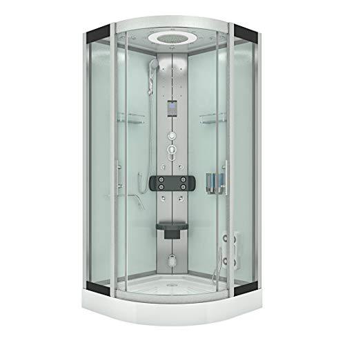AcquaVapore DTP8058-2000 Cabina de ducha completa 100 x 100 JA con sellado de discos 2K