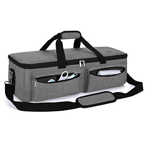 Luxja カッティングマシン用キャリングケース ブラザースキャンカットCM300(CM110)・シルエットカメオ3対応 グレー
