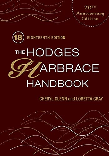 The Hodges' Harbrace Handbook: 70th Anniversary Edition (Hodges' Harbrace Handbook with APA Update Card)
