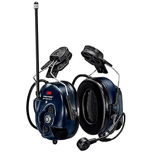 3M PELTOR WS LiteCom PRO III Headset - Hard Hat Attached - Dark Blue