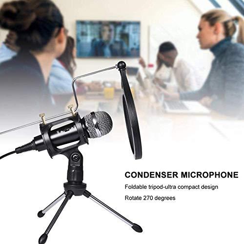 Microfoon Standkondensatormikrofon- Mit Filterstativständer Perfekt Für Sprachaufzeichnungsspiele Voice Live-Uitzending, Konferenz Usw.