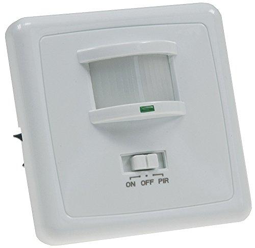 Unterputz Bewegungsmelder 160° 9m Reichweite LED Geeignet 3-Draht Infrarot Sensor UP Einbau I Parallel-Schaltung I Weiß