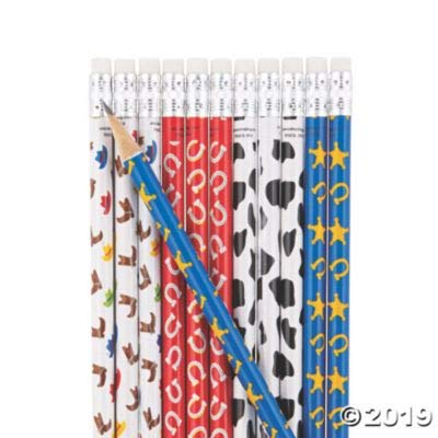 Fun Express Western Icons Pencil - Stationery - 24 Pieces