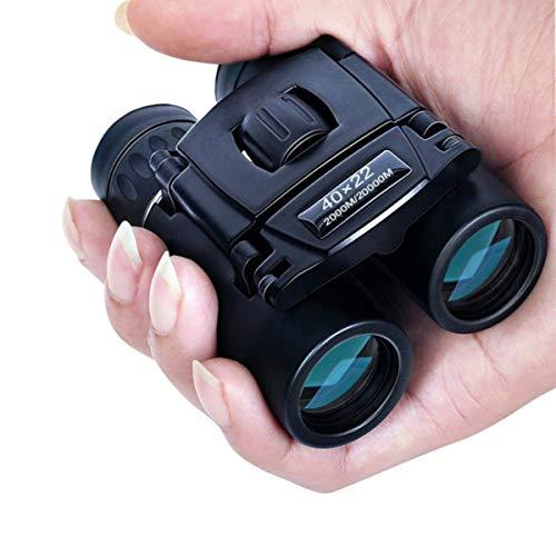 HIUHIU 40x22 HD Jumelles Puissant 2000M Longue portée Pliable Mini BAK4 FMC Optique pour Sports de Plein air Camping Voyages Cadeaux pour Les Enfants