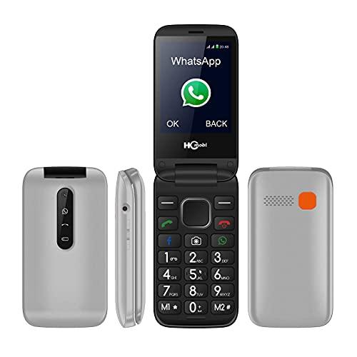 Flip Telefono Cellulare 3G Per Anziani, Facile Da Usare, Telefono Senza SIM Con Grande Schermo Da 2,8  | Pulsante SOS | Pulsante Grande | Torcia E Base Di Ricarica