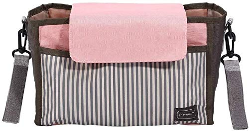 Kinderwagen Storage Bag, Multi-Function Luiertas mama Storage Bag Extra wandelwagen opslag for Baby Stuff Collection (Kleur: Roze) (Color : Pink)