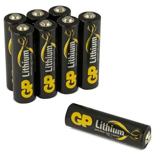 GP Lithium AA Batterien Premium (L91, FR6, 15LF), 1,5V, ideal für Outdoor Einsatz: langlebig, leicht und temperatur-unempfindlich, 8 Stück (2X 4er Pack)