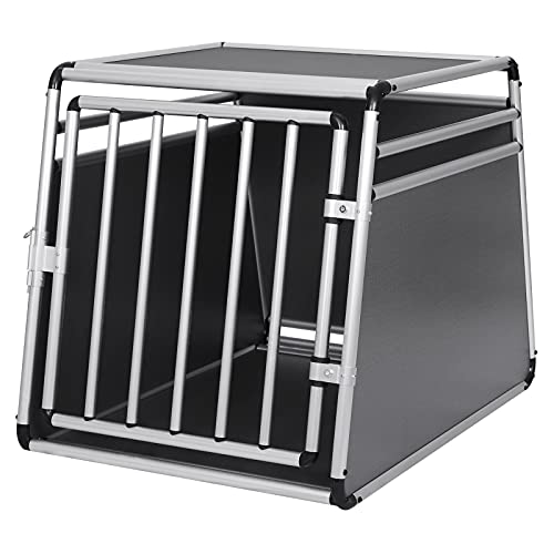EUGAD Hundetransportbox Alu Hundebox Reisebox Autobox für Husky Samojede Weimaraner Labrador Golden Retriever 90 x 65 x 69 cm XXL 0008LL