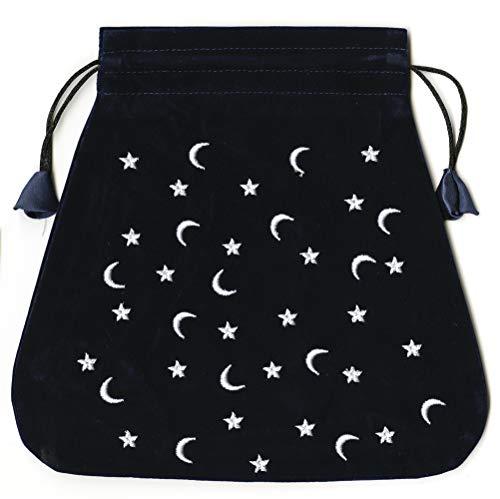 Moon and Stars Velvet Bag (Bolsas de Lo Scarabeo Tarot Bags From Lo Scarabeo)