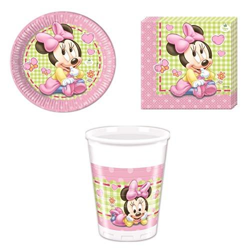 Disney Bebé Minnie Mouse Vajilla de fiesta - Kit De Fiesta Vaso...
