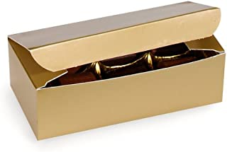 Set of 10 - 1/2 Lb. GOLD Gloss Wedding Party Favor Candy Food Boxes 5-1/2x2-3/4x1-3/4