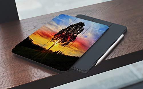 MEMETARO Funda para iPad (9,7 Pulgadas 2018/2017 Modelo), Rayo al Aire Libre Cielo Impresionante Puesta de Sol Gran Tierra Soleada Árbol Rayo Smart Leather Stand Cover with Auto Wake/Sleep