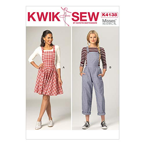 Kwik Sew Mustern k4138OSZ X-Small/Small/Medium/Large/X-Large Schnittmuster Jumper und Overall, Mehrfarbig