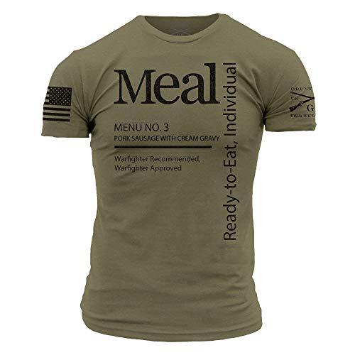 Grunt Style Dude MRE Men's T-Shirt (Military Green, Large)
