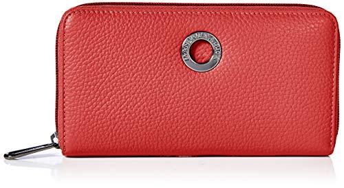 Mandarina Duck Mellow Leather Portafoglio, Donna, Rosso (Flame Scarlet), 14.5x10x3
