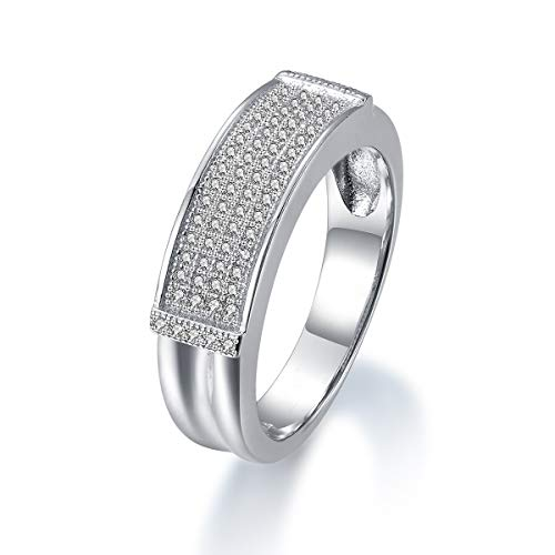 TARDOO Anello in argento Sterling 925 da donna Infinity Rings Anniversary Promise e Argento, 62 (19.7)-002, cod. FRITV002-7