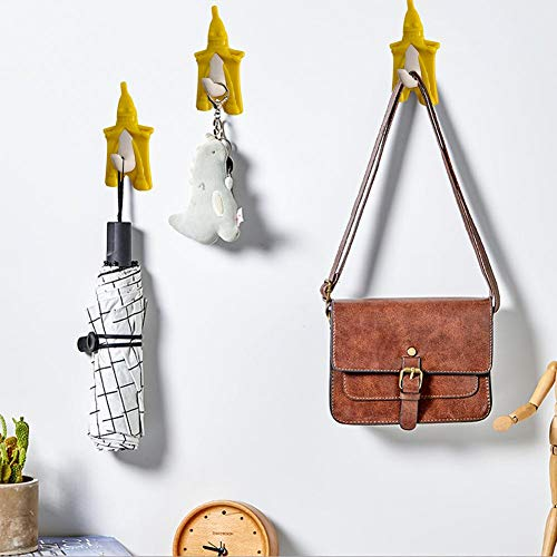 ADSIKOOJF deurhaak kunststof banaan vormige haak muur Hanger voor kleding sleutel paraplu jas opknoping houder badkamer keuken kast trekken haak