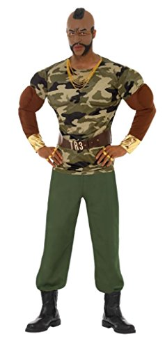 Official Mr T Premium Costume with Mask in Two Sizes.