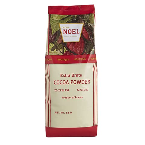 Noel Red Cocoa Powder 2.2 lbs./35.2 Oz. Bag, Gluten Free, GMO Free, Trans Fat Free, Extra Brute Cocoa Powder For Baking, Product Of France