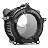 INDNICE Contrast Cut see through Air intake for harley Dyna Super Glide FXD air filter FLHR air intakes for harley touring 00-07