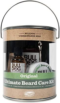 Bulldog Mens Skincare Grooming Original Ultimate Beard Care Kit Including Beard Shampoo Conditioner product image