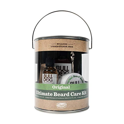 Bulldog Mens Skincare & Grooming Original Ultimate Beard Care Kit Including: Beard Shampoo & Conditioner, Beard Oil, Beard Balm, Beard Comb & Beard Scissors