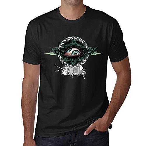 MIdDTees Tool-Eye-Band Fashion Men's T-Shirt Slim Fit Short Shirts Sleeve Casual Cotton Tees Polo Black