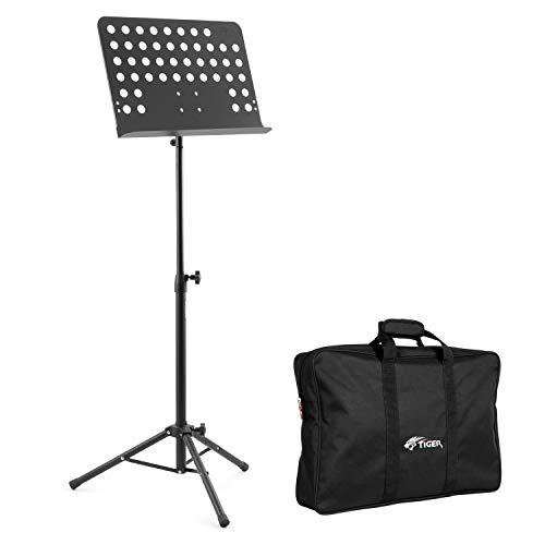 Tiger Orchestral Muziekstandaard Metalen plank met tas