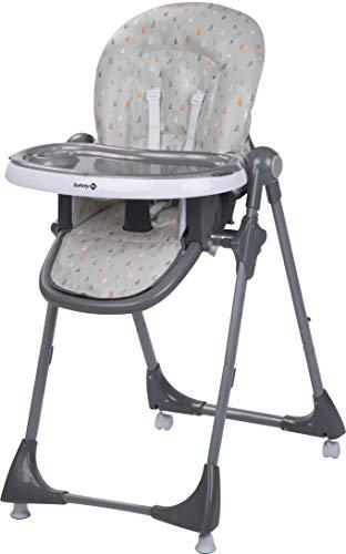 Safety 1st Kiwi, hoge stoel in hoogte verstelbaar, tafel met afneembaar dienblad, compact inklapbaar, vanaf ca. 6 maanden tot maximaal 15 kg, verschillende kleuren.