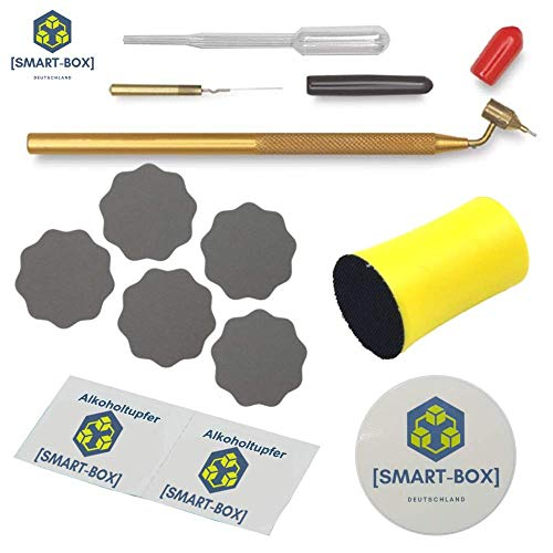 [SMART-BOX] Komplett Set - Lackstift für Autolack & Felgen | Lack-Reparatur-Set | mit deutscher Anleitung | Loew Cornell Fine Line Painting Pen | Kemper Fluid Writer Pen