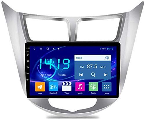 Navegación estéreo para Coche Android 9.1 para Hyundai Accent Verna 2012-2017, Reproductor Multimedia Bluetooth con Pantalla táctil de navegación,4Core WiFi+4G 1+32G