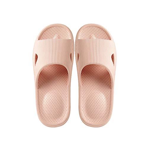 WENHUA Zapatillas de Masaje de Fondo Grueso Antideslizantes para Mujer, Pink_39-40