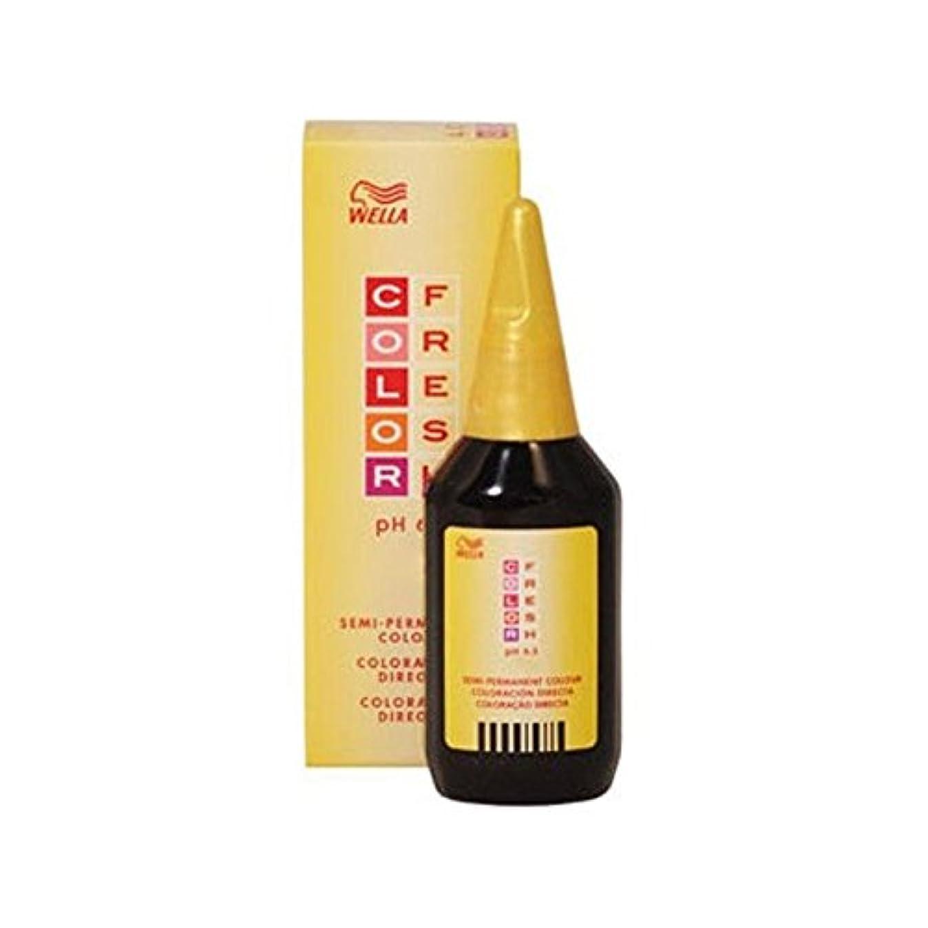 このナチュラル苦Wella Color Fresh Light Red Brown 5.4 (75ml) (Pack of 6) - ウエラ色新鮮光赤褐色5.4(75ミリリットル) x6 [並行輸入品]