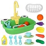 CestMall Giocattoli per lavello da Cucina, Set da Cucina per Lavare con Rubinetto dell'Acq...
