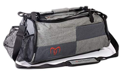 Baran&Gierczak | Sporttasche mit Schuhfach und reißfestem Ballnetz | 55x28x23 | Trainingstasche für Damen & Herren | Als Fitness Tasche geeignet