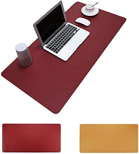 Protector de escritorio de piel sintética para escritorio, alfombrilla de escritorio, marco de ratón, bolsa de almacenamiento, cómoda almohadilla de escritura, decoración de escritorio (oficina y hog
