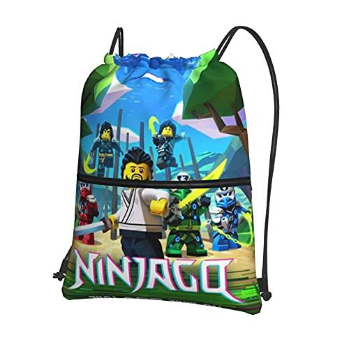 Mochila deportiva con cordón, mochila de viaje para la escuela o el niño o la niña, bolsa de deporte con cierre externo
