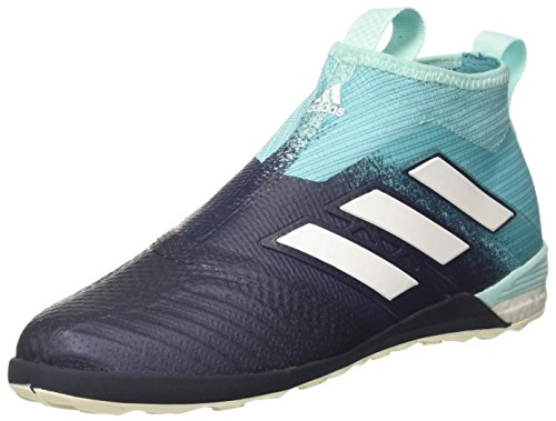 adidas Ace Tango 17+ Purecontrol Mens Football Boots Soccer Cleats (UK 10.5 US 11 EU 45 1/3, White Blue BY1961)
