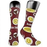 huatongxin Medias de compresión Cena rumana con postre Calcetines de tubo de icono plano para correr,viajar,atletismo,embarazo y enfermera