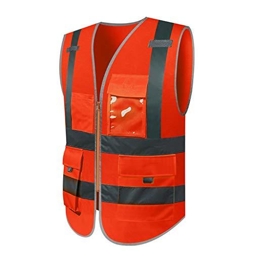 Jia He Arbeitskleidung Reflektierende Weste, Weste, Müllmann, BAU Fahrer, Auto, Verkehrssicherheit, Nachtfahrten (Multi-Color optional) Größe, Bestellschein erforderlich ## (Color : F)